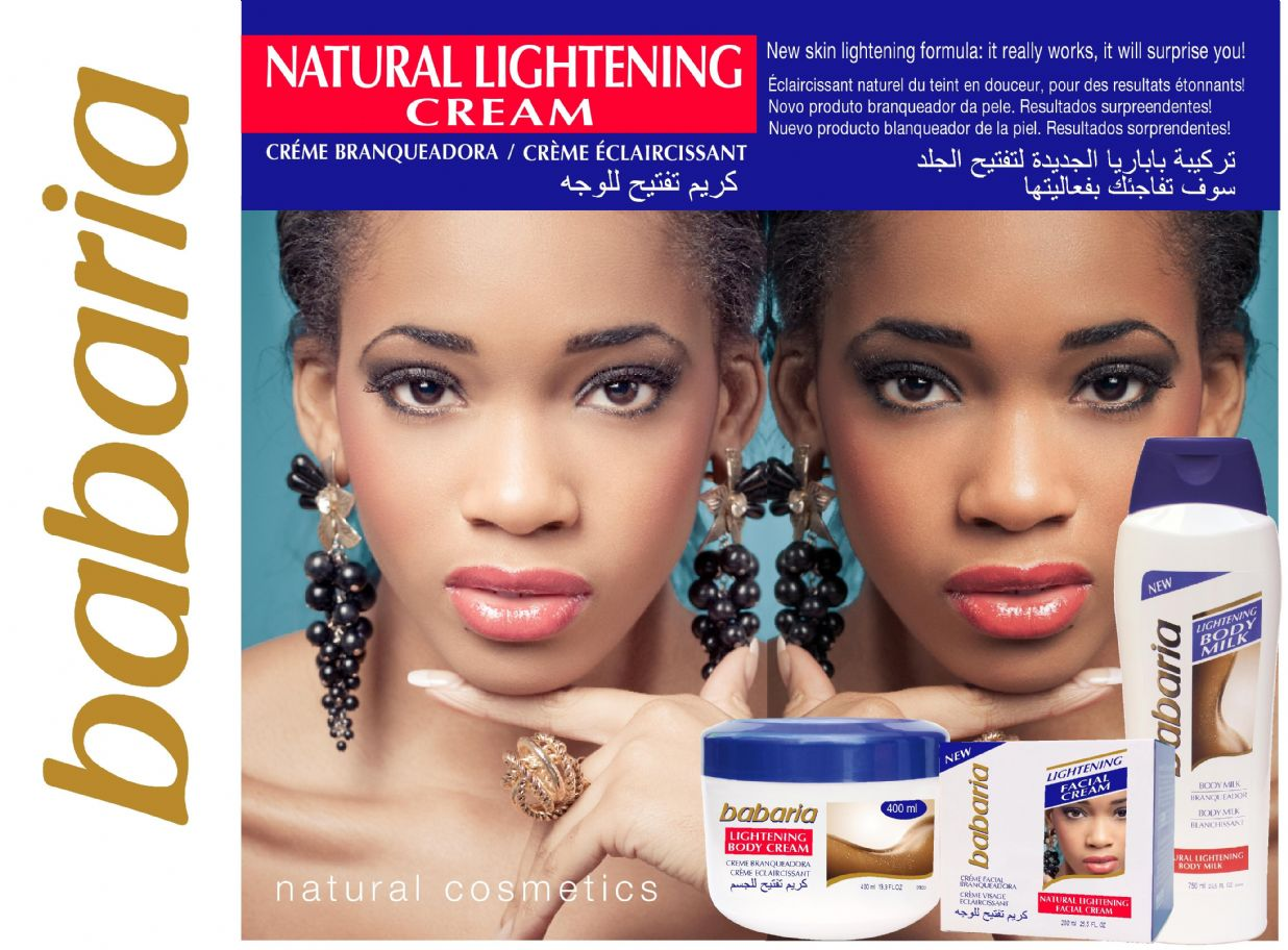 Natural facial skin lightener for blacks